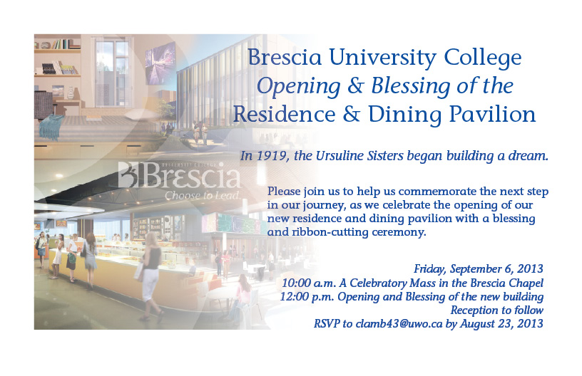 building blessing invitation